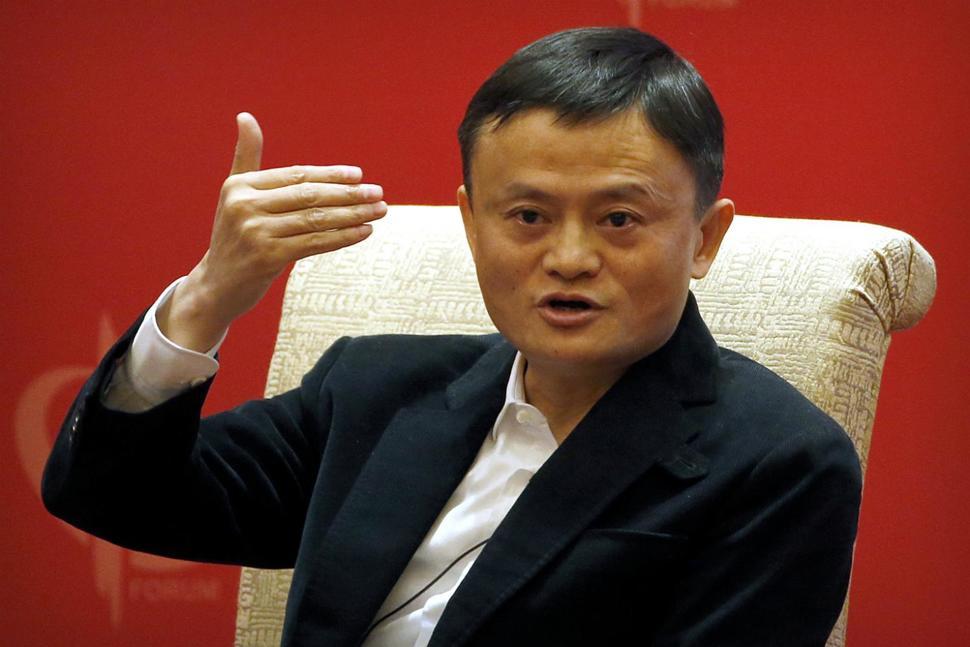 Jack Ma, chủ tịch Alibaba đang phát biểu tại diễn đàn phát triển Trung Quốc ngày 19/3/2016
