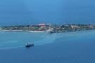 Toàn cảnh đảo Trường Sa lớn từ thủy phi cơ