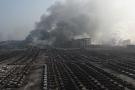 Bãi xế hộp sang trọng bị thiêu rụi sau vụ nổ ở Trung Quốc