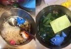 Bữa cơm với 'đặc sản' canh mồng tơi cá nhựa của 'đầu bếp nhí' siêu đáng yêu gây sốt mạng