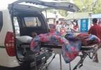 Clip: Cháy xe khách tại Lào, 4 người thương vong