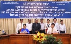 Chủ đầu tư dự án khu đô thị 'bụng thần tài' ký hợp đồng BT 8.265 tỷ