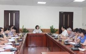 Thứ trưởng Bộ Công Thương Hồ Thị Kim Thoa làm việc với lãnh đạo VBA