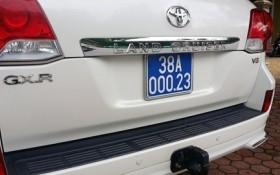 Từ xe của Phó chủ tịch Hậu Giang nhớ xế sang biển giả của sếp KKT Vũng Áng