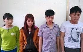 Bắt bốn đối tượng đang tẩu tán tiền giả tại chùa Yên Tử