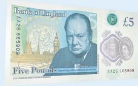 Đồng tiền giấy 5 Bảng mới lạ của Anh