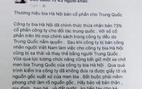 Lên mạng 'nói xấu' Bia Hà Nội để bán bia Huda