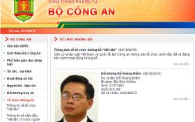 Bộ Công an: 'Việt Tân là tổ chức khủng bố'