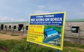 Xây trái phép nhà máy hàng nghìn mét vuông chỉ bị phạt … 5 triệu!