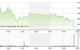"""Chứng khoán chiều 1/12: Bị khối ngoại """"ép"""", VN-Index xuống mức thấp nhất ngày"""