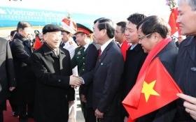 Tổng bí thư đến Bắc Kinh