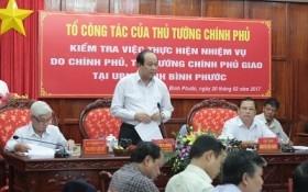 UBND tỉnh Bình Phước nhận lỗi trước Thủ tướng