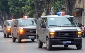 Xe đặc chủng dẫn giải Hà Văn Thắm và đồng phạm hầu tòa