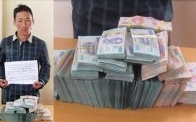 Người đàn ông định vượt biên giới với bao tải chứa 2 tỷ đồng