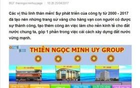 """Nghi vấn 'bình mới rượu cũ"""", Thiên Ngọc Minh Uy nâng cấp hoạt động lên tập đoàn"""