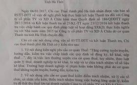 """Vụ nghi """"đi đêm"""" với doanh nghiệp: Chi cục thuế """"phản pháo"""" Thanh tra tỉnh Hà Tĩnh"""