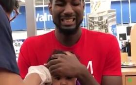 Clip bố mếu máo khi con gái bị tiêm hút triệu lượt xem trên Facebook