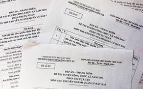 Đề thi công chức ở Cà Mau bị 'lộ'