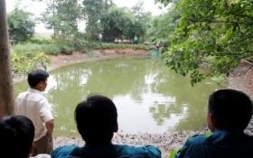 Xả nước hồ tìm hung khí vụ đâm chết người vì miếng thịt lợn